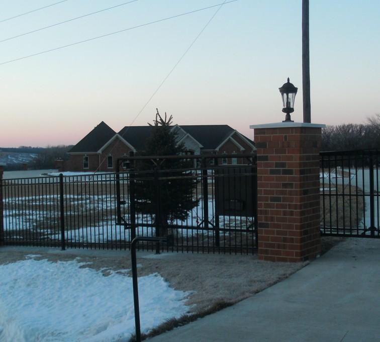 AFC Sioux City - Three rail ornamental fence