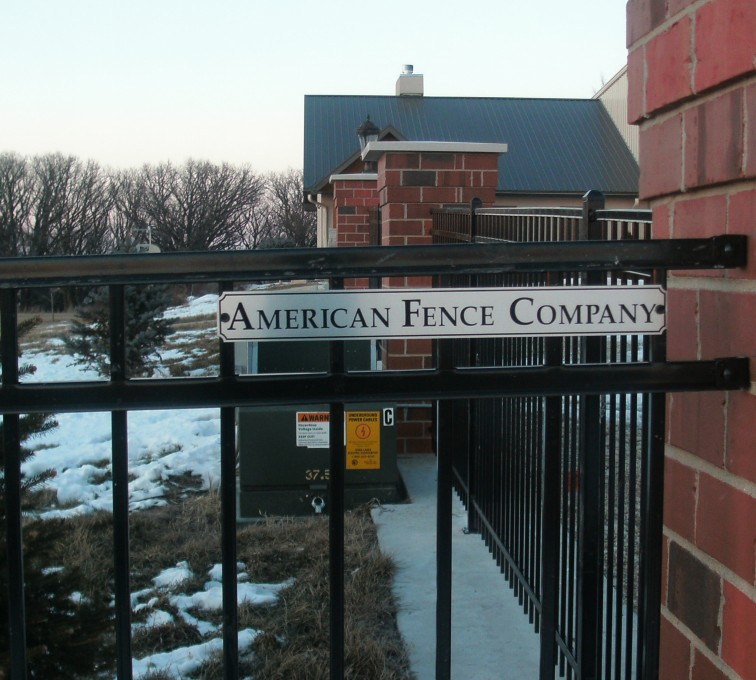 AFC Sioux City - Close up of ornamental fence panel