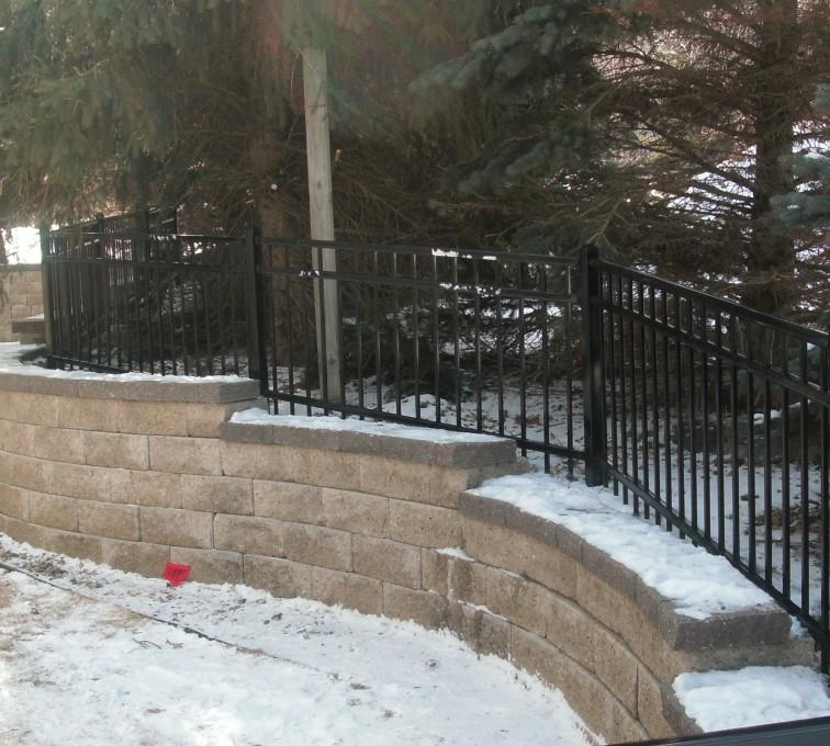 AFC Sioux City - Backyard ornamental fencing