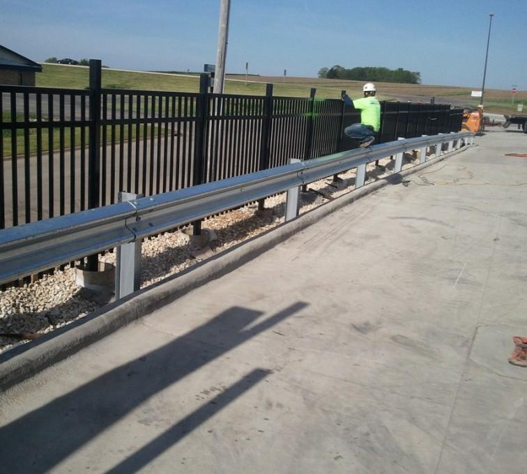 AFC Sioux City - Guardrail and 3 Rail Ornamental iron fencing