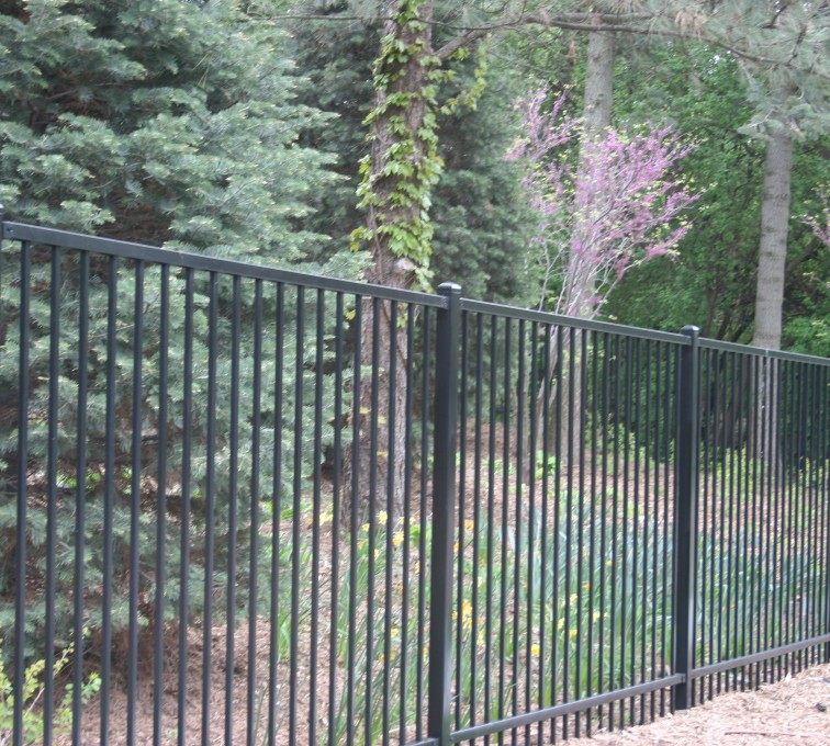 AFC Sioux City - Flat top two rail Ornamental Fencing