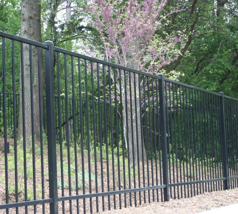 AFC Sioux City - Black Ornamental Iron Fencing