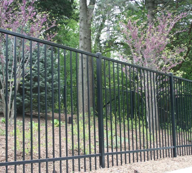 AFC Sioux City - Two rail ornamental fence
