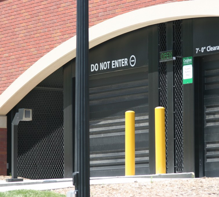 AFC Sioux City - Chain Link Parking Garage Entrance