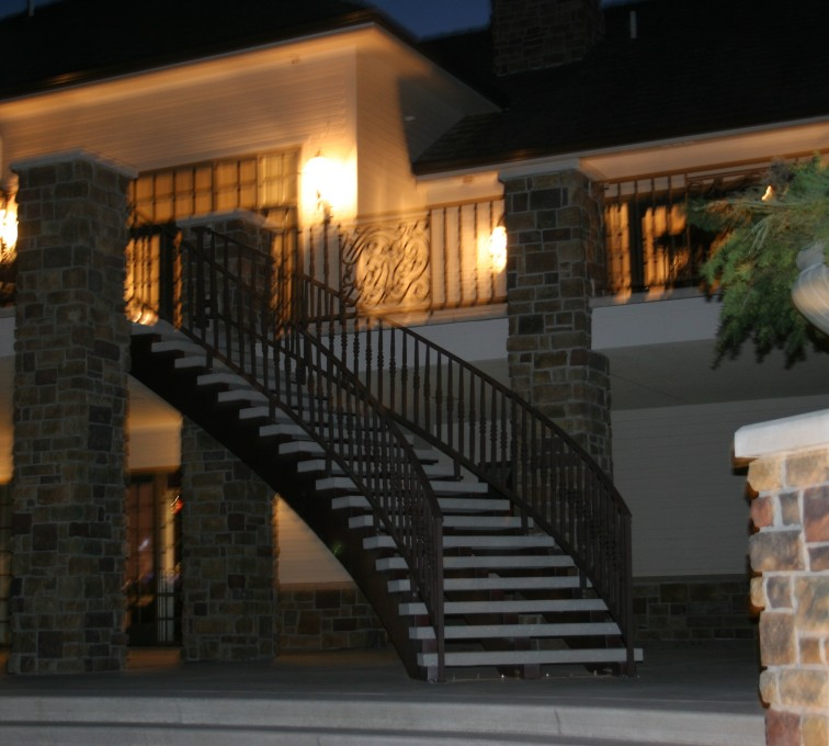 AFC Sioux City - Custom Curved Staircase Railing