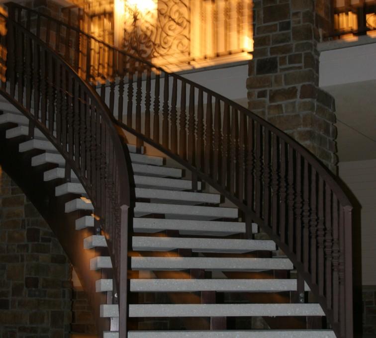 AFC Sioux City - Ornamental Custom Stair Railing