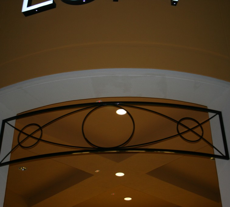 AFC Sioux City - Loft doorway custom metal accent