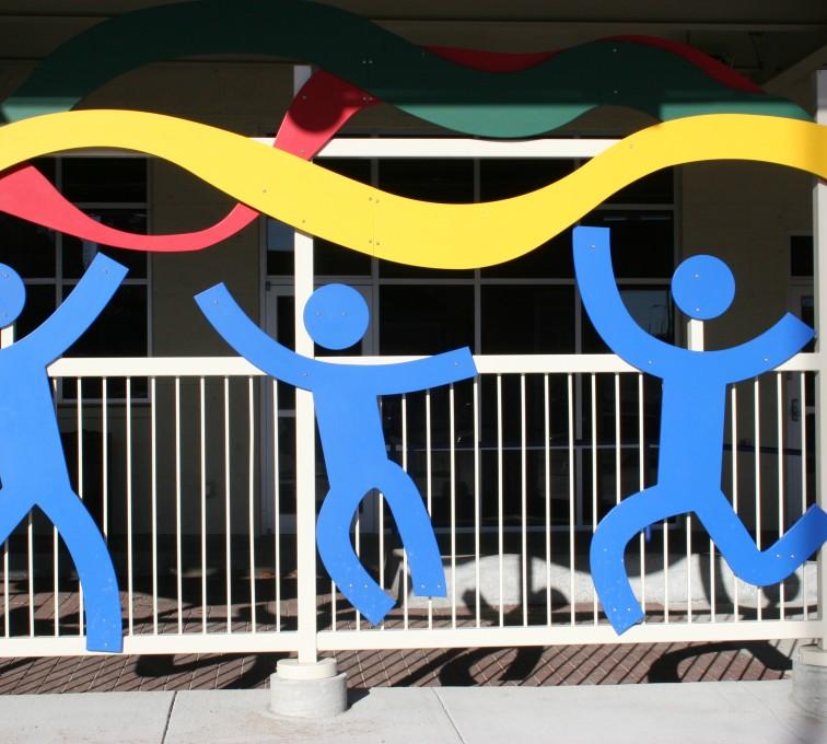 AFC Sioux City - Multicolored ornamental custom fencing