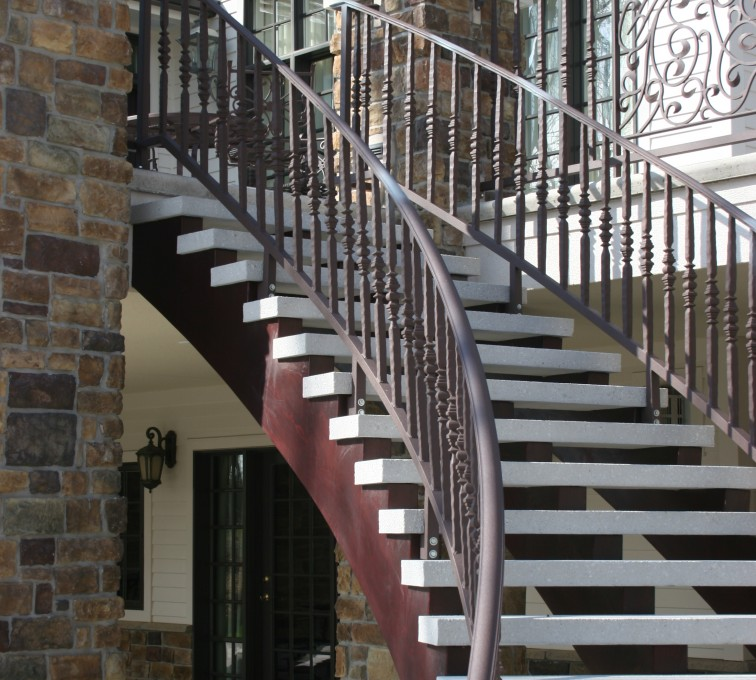 AFC Sioux City - Brown Custom Ornamental Railing for Staircase