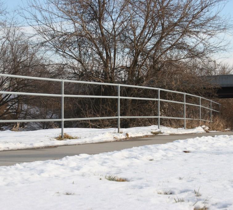 AFC Sioux City - Custom 3 Rail Galvanized Railing