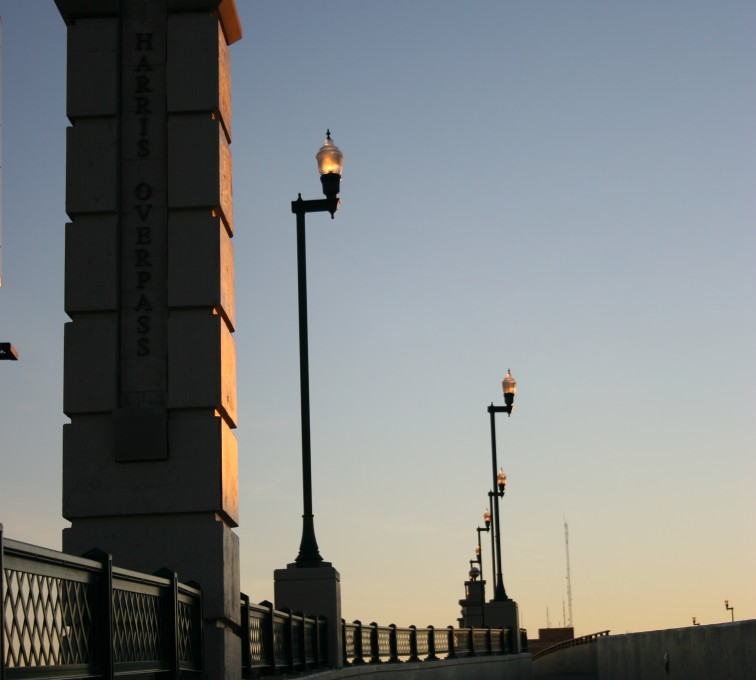 AFC Sioux City - Criss cross custom ornamental railing
