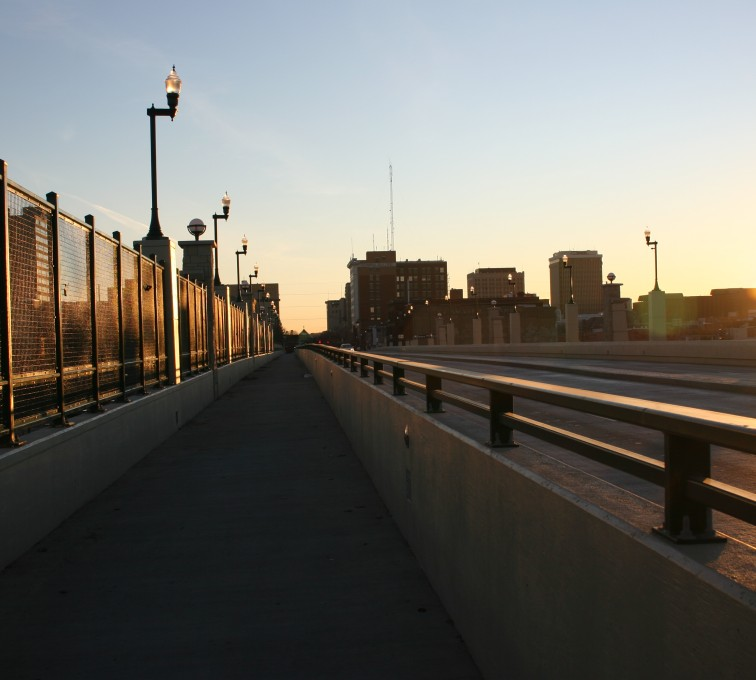 AFC Sioux City - Woven and welded wire fence on an overpass