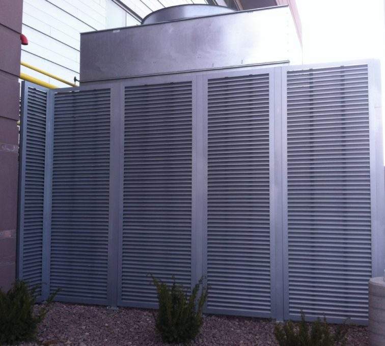 AFC Sioux City - Fully Framed Louvered Panels