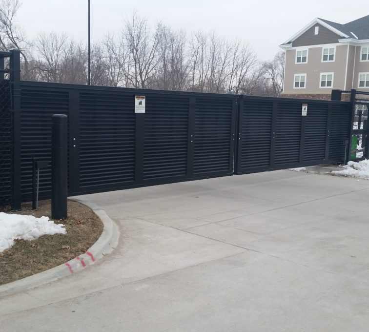 AFC Sioux City - Louvered sliding cantilever gates