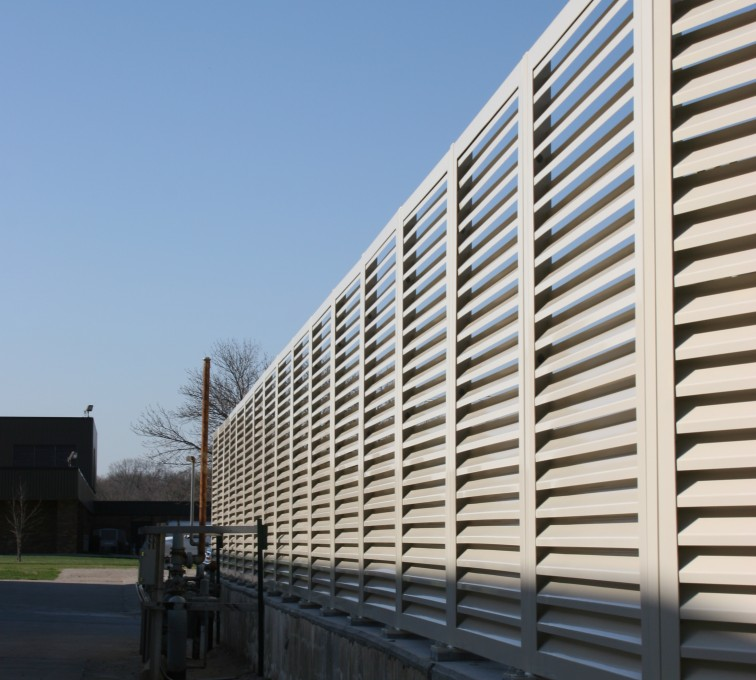 AFC Sioux City - Fully Framed Louvered Fence Panel