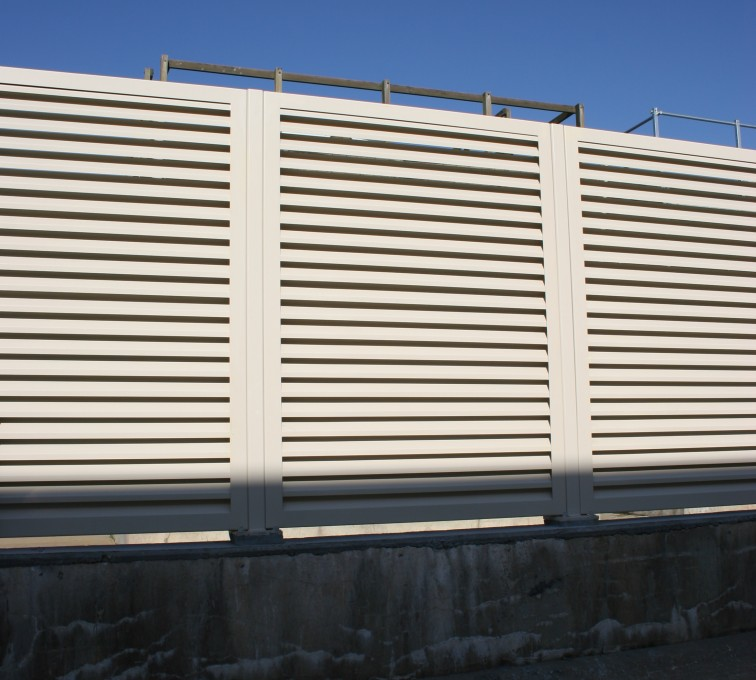 AFC Sioux City - Tan horizontal louvered panels