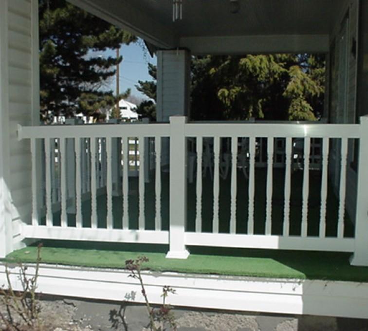 AFC Sioux City - White vinyl railing