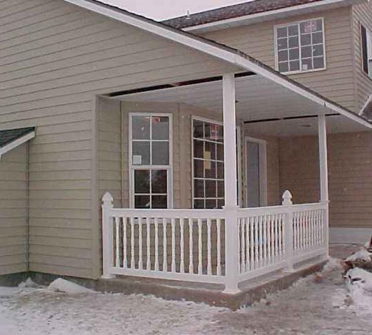AFC Sioux City - Porch white railing
