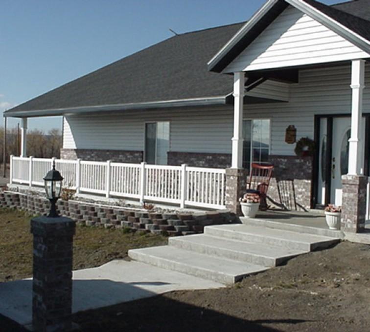 AFC Sioux City - Stretch of white porch railing