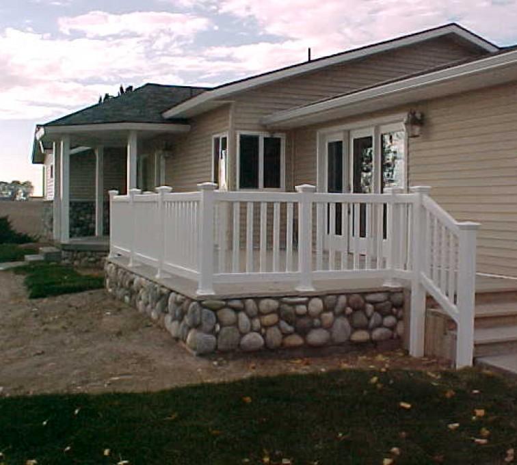 AFC Sioux City - White residential vinyl railing