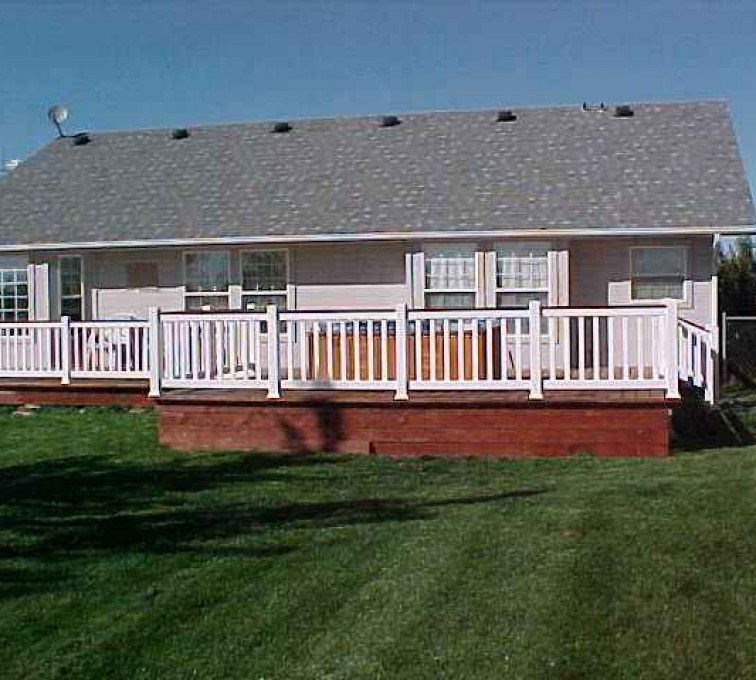 AFC Sioux City - White residential railing