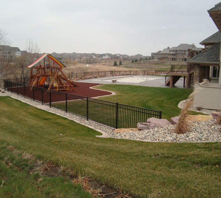 AFC Sioux City - Black Flat Top Ornamental Fence