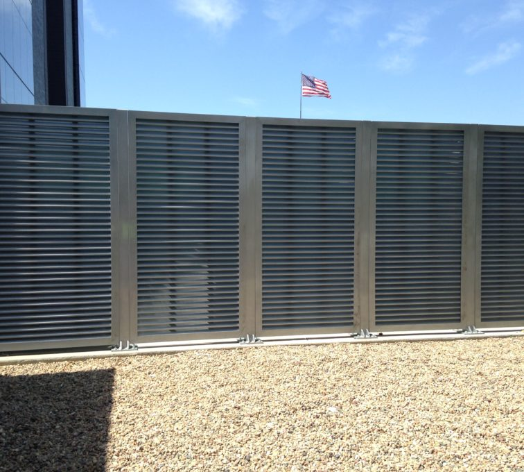 AFC Sioux City - MidAmerica Energy Plaza Horizontal Louver Gate