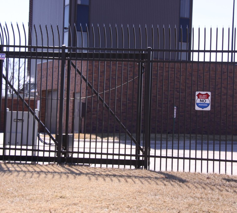AFC Sioux City - Ornamental Commercial Slide Gate with Pickets