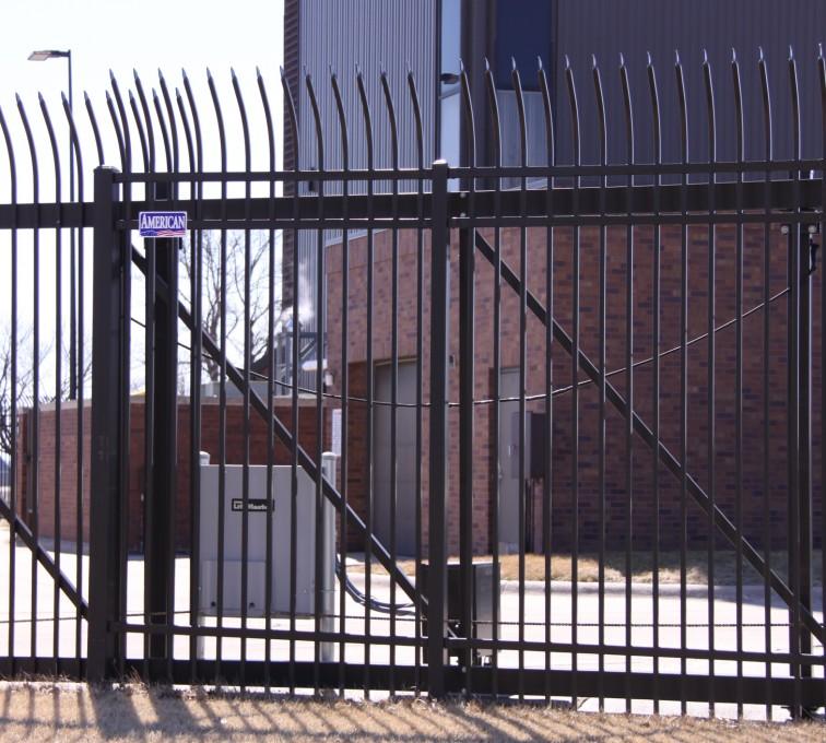 AFC Sioux City - Custom Ornamental Cantilever Gate