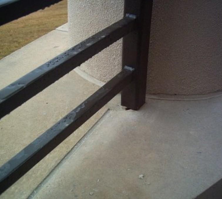 AFC Sioux City - Close up of railing rails