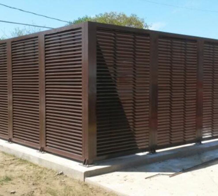 AFC Sioux City - PalmSHIELD Chocolate Colored Louver Structure