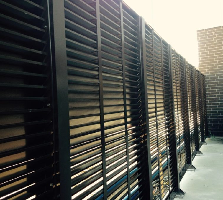 AFC Sioux City - Back Of Louvered Panels
