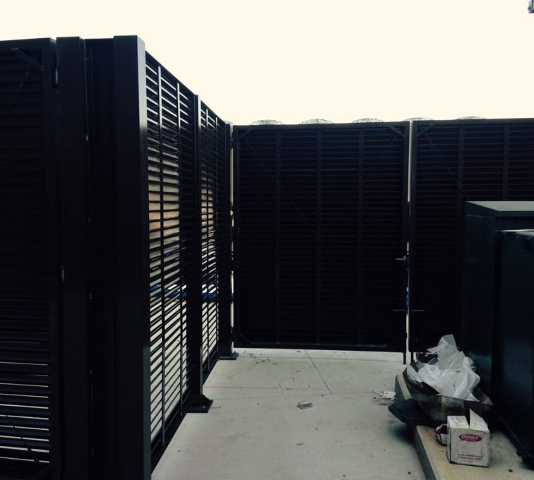 AFC Sioux City - Back of PalmSHIELD Louvered Gate