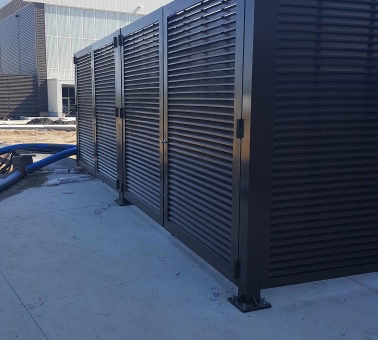 AFC Sioux City - Louvered Panel Enclosure Corner View