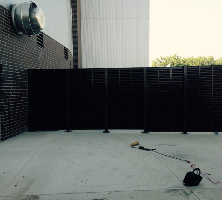 AFC Sioux City - Elevation View of Louvered Panels from PalmSHIELD