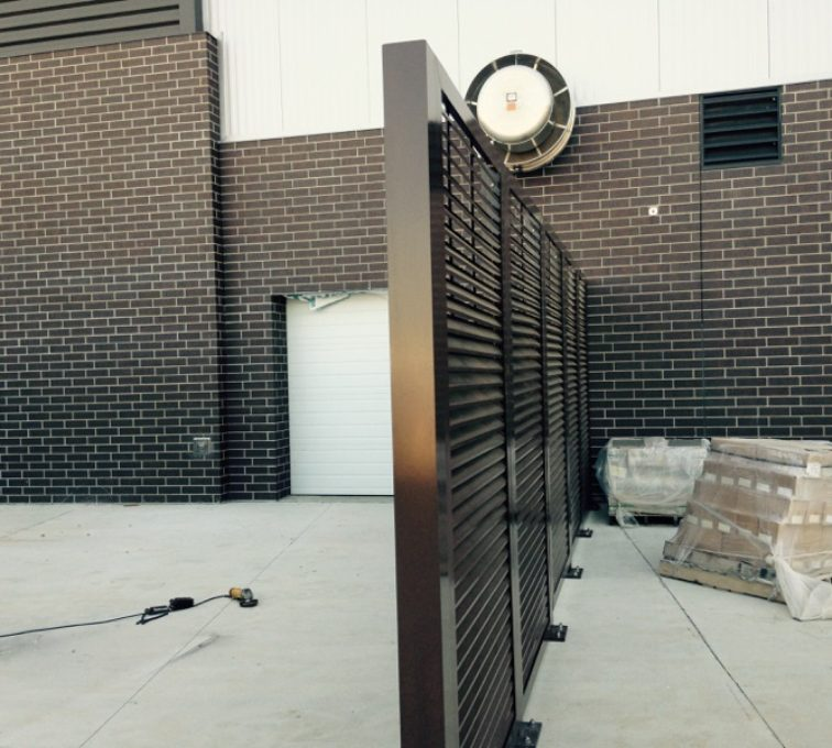 AFC Sioux City - Louvered Panel Fence Line
