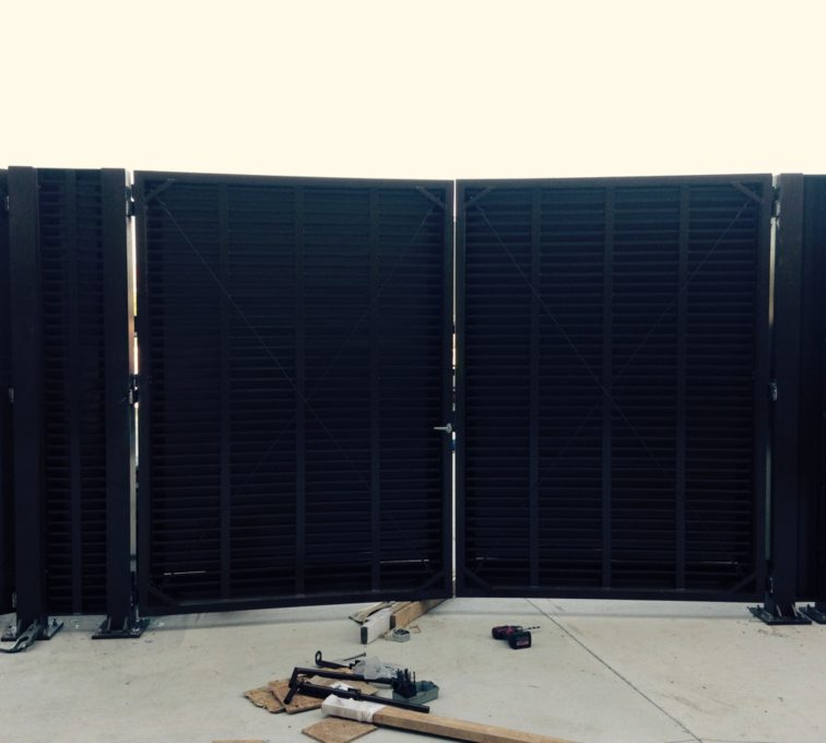 AFC Sioux City - PalmSHIELD Louvered Gate Installation