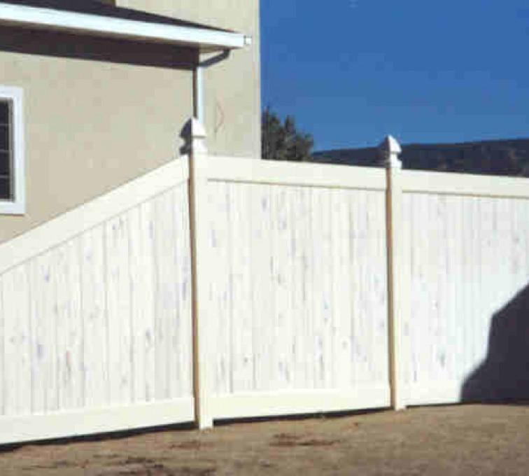 AFC Sioux City - Cedarcrest Solid PVC Fencing