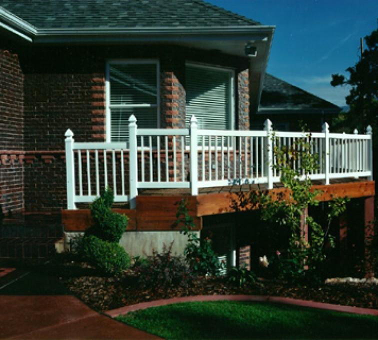 AFC Sioux City - White porch railing