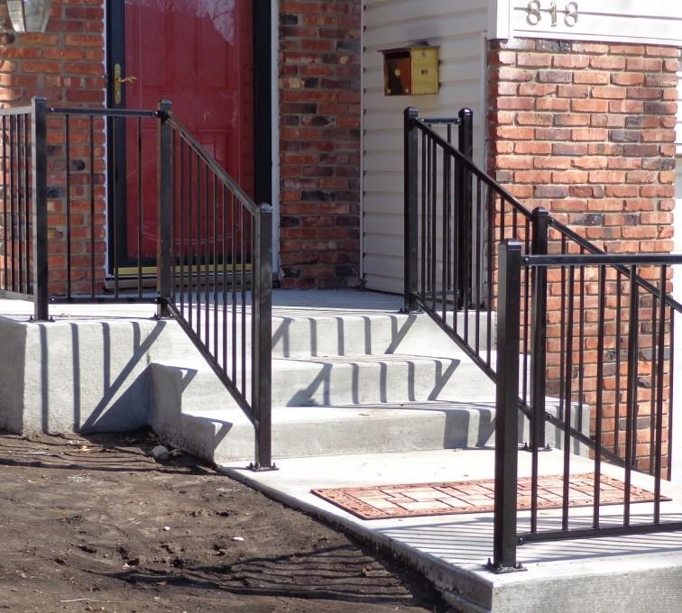 AFC Sioux City - Ornamental iron railing, custom with 2 rails
