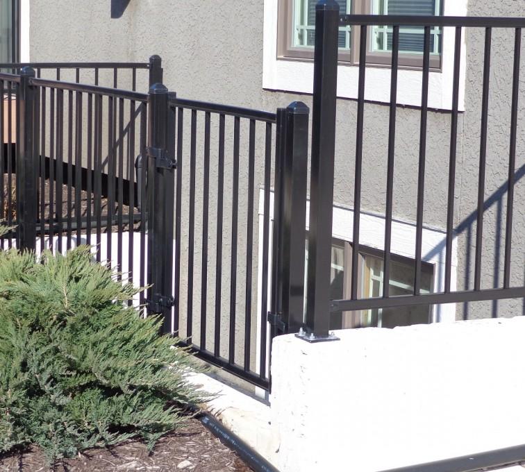 AFC Sioux City - Custom 2 rail ornamental railing