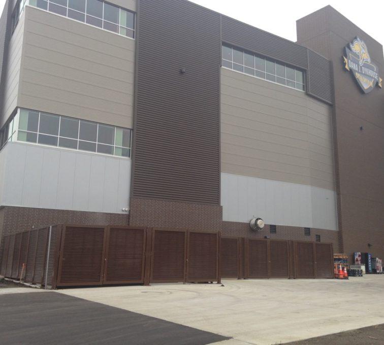 AFC Sioux City - Louvered fencing at SDSU football stadium