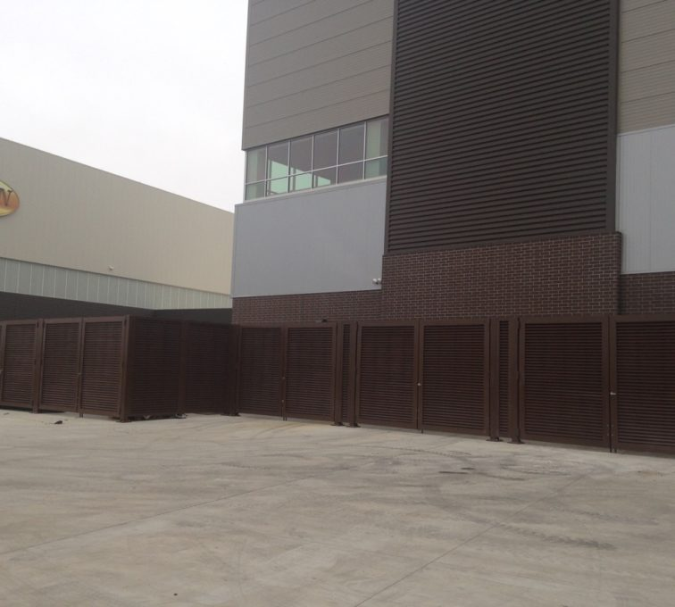 AFC Sioux City - SDSU Footbal' Louvered Panel Enclosure