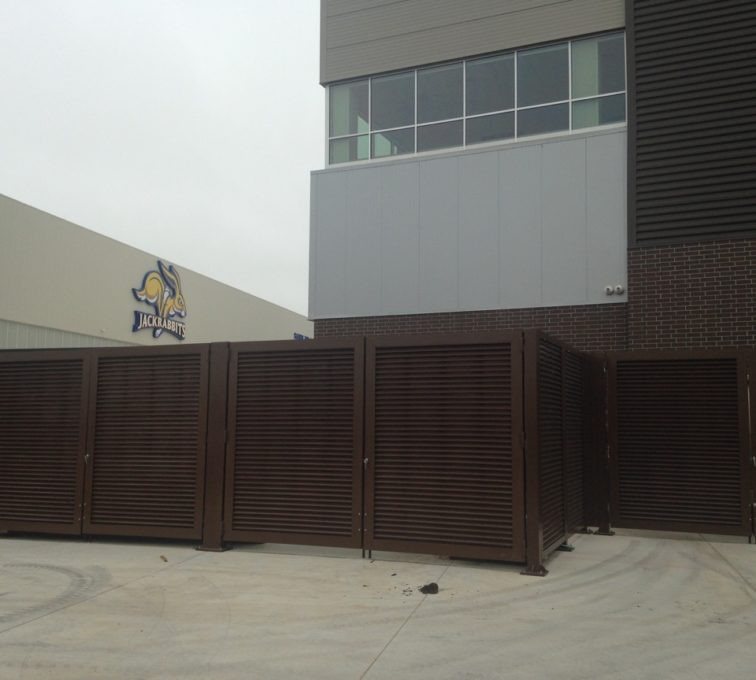 AFC Sioux City - Brown louvered panels for South Dakota State University