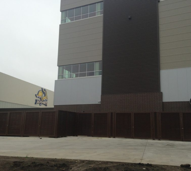 AFC Sioux City - Louvered fencing panels at SDSU