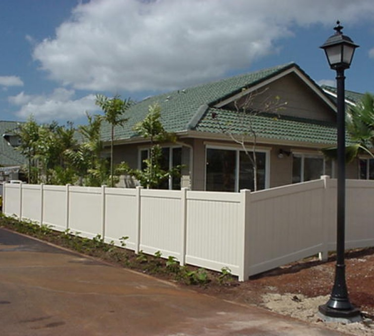 AFC Sioux City - White Vinyl Privacy Fence