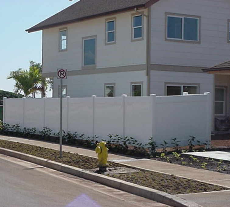 AFC Sioux City - White Privacy Vinyl Fence