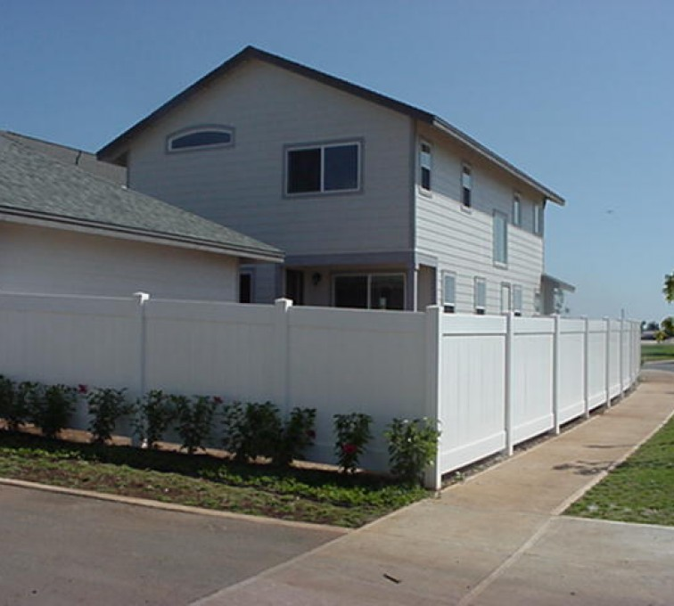 AFC Sioux Falls - White Vinyl Privacy Fencing