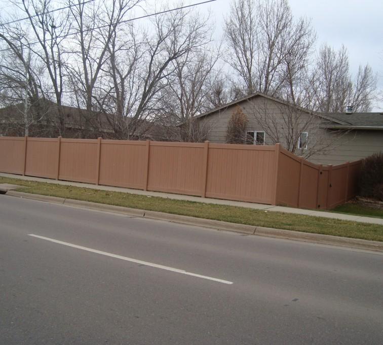 AFC Sioux City - Cedar Tone Solid Vinyl Fencing