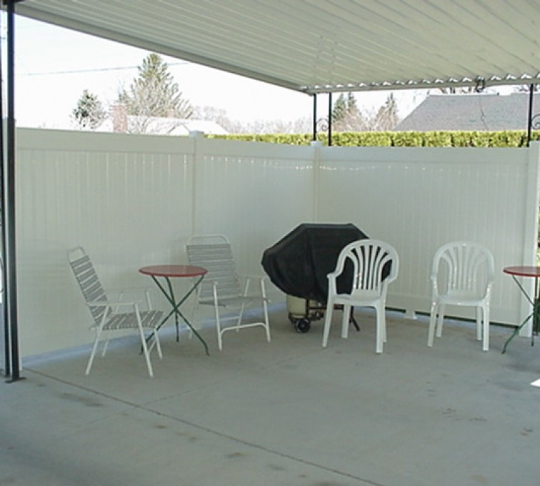 AFC Sioux City - Vinyl Solid Privacy Patio Fence